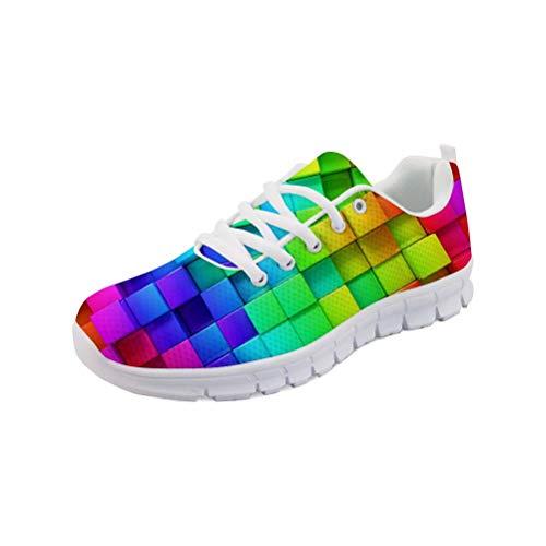MODEGA Sneakers Arte Vernice Scarpe da Tennis Scarpe da Uomo Scarpe da Tennis Scarpe da Bowling Poco costose della Gioventù Uomini Casuale Size 43 EU | 8.5 UK