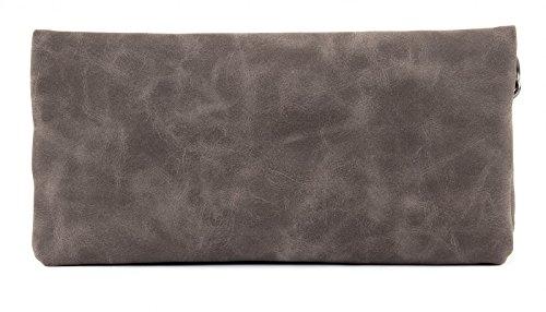 Fritzi aus Preußen Ronja New York borsa - Pochette 29 cm Stone (Grigio)