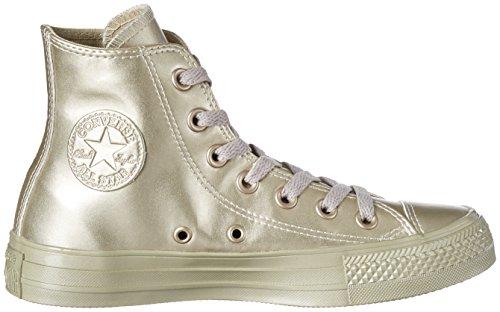 Converse Chuck Taylor All Star, Pantofole a Stivaletto Unisex - Adulto Gold (Light Gold/Light Gold)