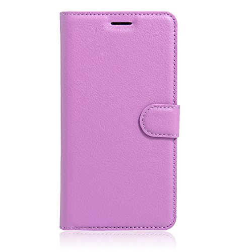Apple iPhone 7 Coque, [Accessories Expert] Flip Housse Etui à Rabat En Cuir Portefeuille Protection Card Slot Fermeture magnétique Support Etui Housse pour Apple iPhone 7,RoseRouge Violet