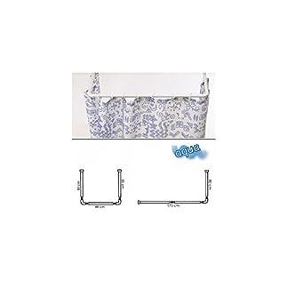 Maurer 4042202 – Barra para cortina ducha, Universal, Aluminio, Blanco 80 x 170 cm