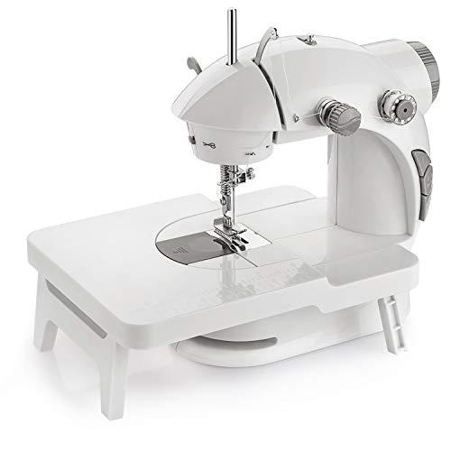 EletecPro Nähmaschine Haushaltsgeräte Mini Nähmaschine mit Elektrisches+Fußpedal Kompaktnähmaschine Einzelne Nadel gerade Linie regelbarer Nähgeschwindigkeit Sewing Machine