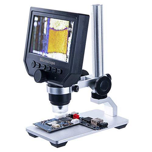 Alqn Visuelle 600 Mal Hd-Bildschirm Industriemikroskop Haarfollikel Elektronische Lupe Handy Motherboard Platine Reparatur Video Digitales Mikroskop Hautporen Kopfhautdetektor Lupe,B - Video-motherboard-reparatur