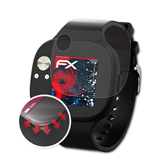 atFoliX Schutzfolie passend für Asus VivoWatch BP HC-A04 Folie, entspiegelnde & Flexible FX Bildschirmschutzfolie (3X)