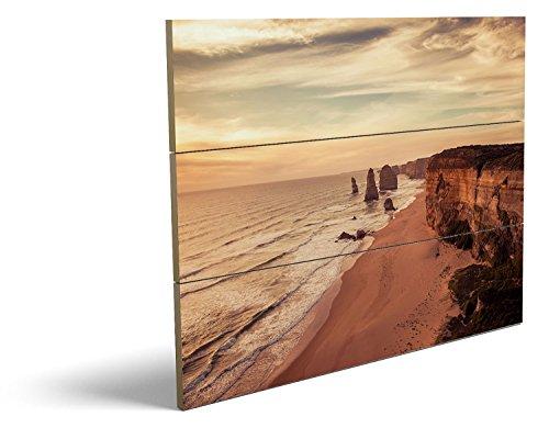 Am Ufer, qualitatives MDF-Holzbild im Drei-Brett-Design mit hochwertigem und ökologischem UV-Druck Format: 80x60cm, hervorragend als Wanddekoration für Ihr Büro oder Zimmer, ein Hingucker, kein Leinwand-Bild oder Gemälde