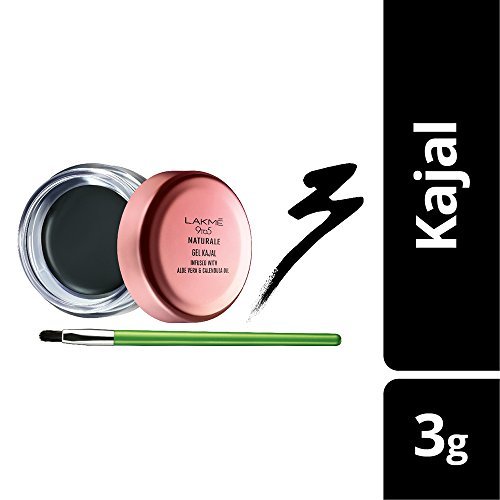 Lakme 9 to 5 Naturale Gel Kajal, Black, 3 g