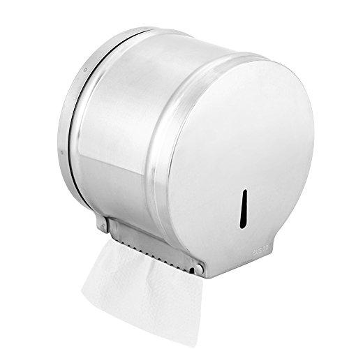 Fdit 304Edelstahl Wand montiert Bad Toilettenpapier Tissue Handtuch Halter Organizer -