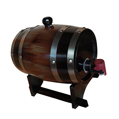 Sharplace Fässer Holzfass Verteilung Weinfass Bier Whiskey Barrel 1.5L + Display Halterung