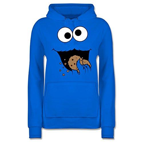 Shirtracer Karneval & Fasching - Keks-Monster - S - Himmelblau - JH001F - Damen Hoodie (Cookie Monster Kostüm Frau)
