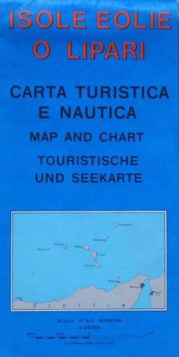 Carte touristique : Îles Eoliennes - Isole Eolie O Lipari : Aoelian Islands (en anglais) par Cartes LAC