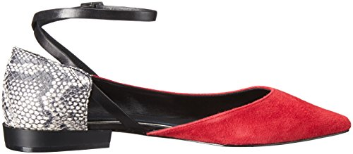 Elie Tahari Charade Femmes Daim Chaussure Plate Poppy-Black-Blk-Wh