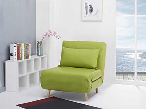 Schlafsessel Jugendsessel Gästebett Como Klappsessel Kunstleder grün klein