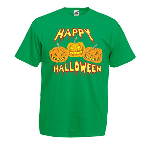 lepni.me Männer T-Shirt Happy Halloween! Party Outfits & Costume - Gift Idea (XXX-Large Grün ()