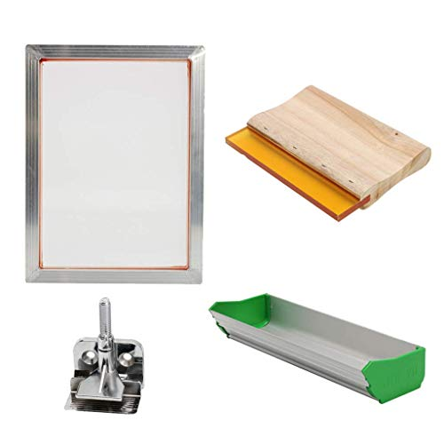 Tubayia Siebdruck Set Starter Kit Siebdruckmaschine Siebdruckrahmen für Papier, Karten, T Shirt (Bildschirm-drucker T-shirt)