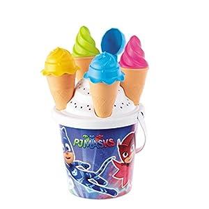 Mondo-28474 PJ Masks - Set de Cubo de Playa, Color Blanco y Azul, 28474
