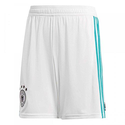 adidas Kinder Dfb Away 2018 Short, White/Eqt Green s16, 140 (Fußball Away Shorts)