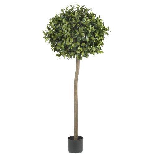 Nearly Natural 5310 Sweet Bay Ball Topiary Silk Tree, 5-Feet, Green by Nearly Natural - Ball Topiary Silk