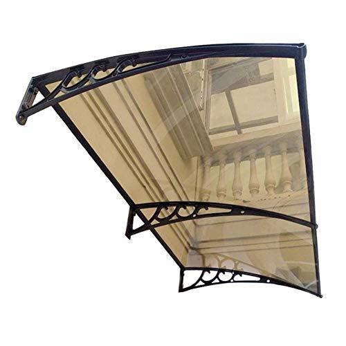 LPD Tejadillo De Protección Marquesina Exterior Marquesina Sol Cubierta De Policarbonato para Puerta De Balcón Exterior Cortina De Veranda (Color : Brown, Size : 60cmx200cm)