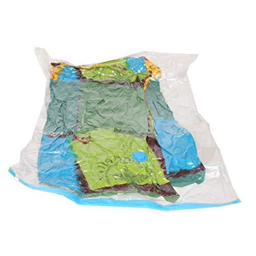 Chengduaijoer Premium-Vakuum-Aufbewahrungsbeutel 80% mehr Platzsparer-Taschen für Kleidung, Decken, Bettdecken, Kissen - Reise-Handpumpe Im Lieferumfang enthalten: 6 Stück