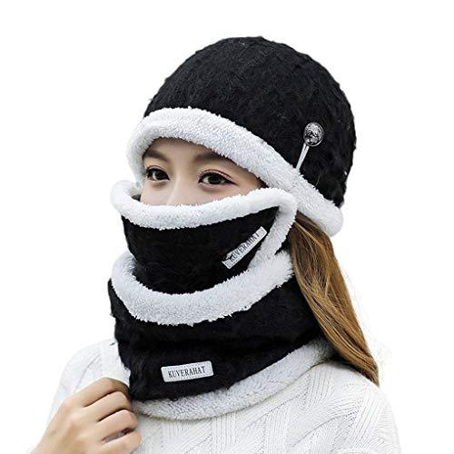 Lorsoul Mode weiche Frauen Winter-Masken-Hut und Schal Sets Warme Mützen Schal für...