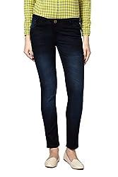 Van Heusen Womens Skinny Jeans (VWDN515L01819_Black Solid_72)