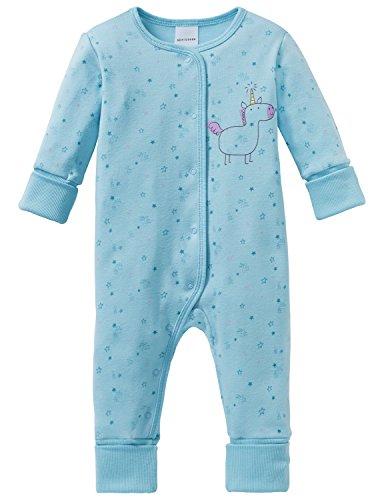 Schiesser Mädchen Zweiteiliger Schlafanzug Einhorn Baby Anzug mit Vario Blau (Türkis 807) 74