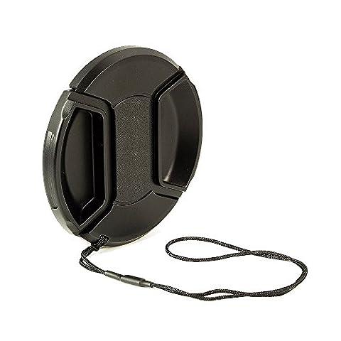 BlueBeach® 62mm Bouchon / Capuchon / Cache / Lens Cap - Snap-On Clip avec Chaîne pour Caméscopes, Appareils Photo - Canon, Nikon, Olympus, Panasonic, Pentax, Samsung, Sony, Leica etc