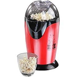 LIVOO DOM336 Machine à pop-corn avec Couvercle amovible/Tasse doseuse, 1200 W, Noir, Rouge