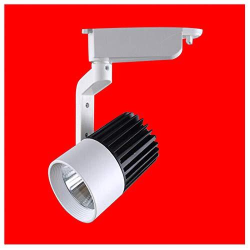 1 Stück Led Schienenlicht Lampe Cob Schienenlampen 12 Watt Birne Scheinwerfer Beleuchtung Tracking LEDs Für Shop Ausstellung In Der Mall (Black & White),24W,3000K