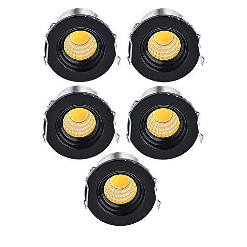30 Cove Beleuchtung (Midore 5 Pack Recessed LED Aluminium Mini Klein Einbaustrahler 230 V Warm White (3000 K))