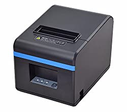 80mm POS Thermal USB Receipt Printer - Auto Cutter - Cash Drawer Port - Paper Width 3 1/8 (80mm) ,High-speed Printing with ESC / POS Print Commands(Black)