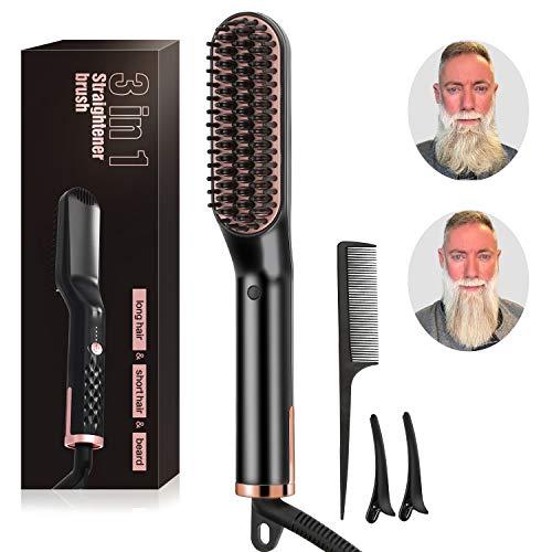 Hot-spot-lotion (Bartglätter-Bürste, elektrischer Bartglätter-Haarkamm Schneller Bartglätter-Styler-Kamm-Lockenwickler-Wärmekamm für Männer und Frauen von Nousuit)