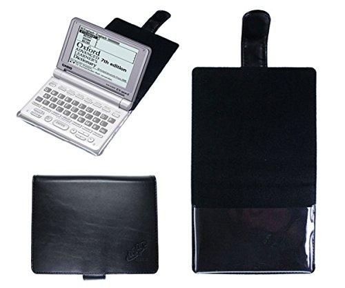 CalcCase für Casio EW-G500 (auch FX-9860G SLIM) Schutztasche schwarz mit Folienhalterung