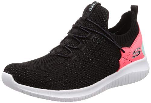 promo code 629d8 123a3 Skechers Ultra Flex-More Tranquility, Zapatillas para Mujer, Negro (Black  Mint Bkmt), 40 EU