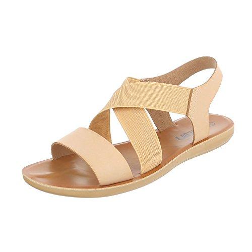 Ital-Design - Scarpe con cinturino alla caviglia Donna Beige