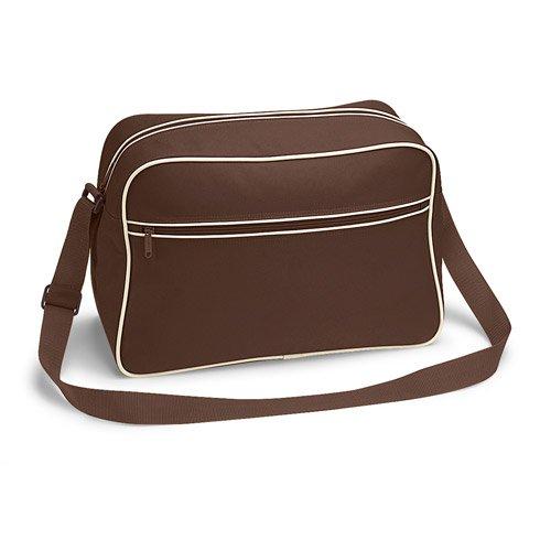 BagBase, Borsa a spalla donna Multicolore White Black taglia unica Marrone (Chocolate Sand)
