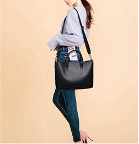 Ms. Mode Mit Großer Kapazität Tragbaren Umhängetasche Black