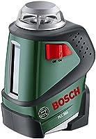 Bosch DIY Linienlaser PLL 360, Stativ, Halterung, 4x AA-Batterien, Schutzasche (Arbeitsbereich 20 m, Messgenauigkeit ± 0,4 mm/m)