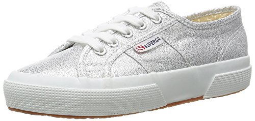huge selection of a548e f2cc6 Superga Lamew, Zapatillas de Tela Mujer, Plateado (031), 39 EU