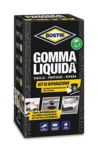 BOSTIK Goa Liquida Kit di Riparazione rivestimento base di goa per sigillature protezioni e riparazioni 100% impermeabili Kit Completo nero