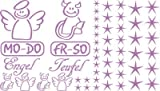 Autoaufkleber Sticker Aufkleber Set für Auto Schriftzug Engel Mo-Do Fr-So Teufe (042 flieder)