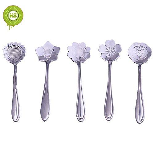 bcony-flowers-floral-cuilleres-en-304-acier-inoxydable-lot-de-5-pour-le-cafe-la-creme-glacee-pamplem