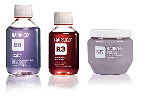 Kit Ricostruzione Capelli Con Cheratina R3 Capelli Ultra Danneggiati - Hairmed