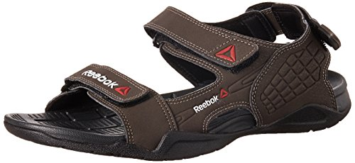 Reebok Men's Adventure Z Supreme Stone, Gravel and Black Sandals and Floaters - 8 UK/India (42 EU) (9 US)