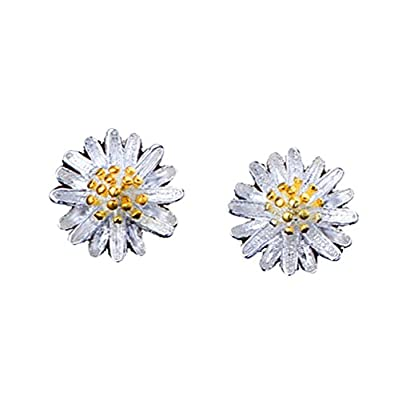 Da.Wa Small Daisy Flower Stud Earrings Fashion Jewellery Teen Girls Gift