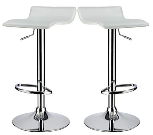 Barhocker Weiß Set (Duhome Elegant Lifestyle 2er Set Barhocker Kunstleder Weiß Barstuhl höhenverstellbar Tresenhocker - Typ 118)