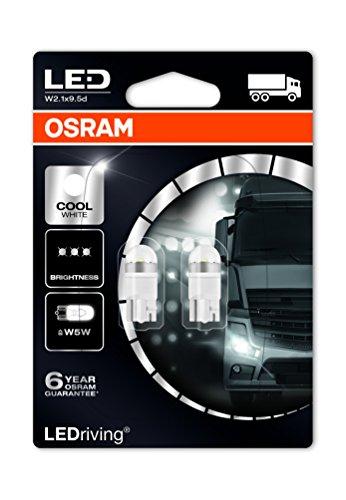 OSRAM 2824CW-02B LED Retrofit W5W 24V lumière intérieure Cool White 6000K, en double blister