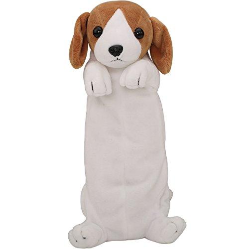Estuche para lápices con diseño peluche de perro en 3D White-Yellow 9.8 * 3.15 * 2.76inches(25 * 8 * 7cm)