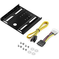 """deleyCON Einbaurahmen für 2,5"""" Festplatten SSD's auf 3,5"""" Adapter Wechselrahmen Mounting Frame Halterung Schienen inkl. Schrauben"""