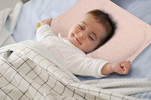 Lagerungskissen baby Gegen kopf Verformung und Plattkopf | Bezug ist Abnehmbar | babykissen kopfform ist Weich und Gemütlich | BabyKopfkissen für Neugeborenen Runde Kopf| Viskoelastischer Schaumkern